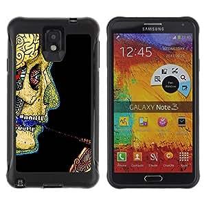Suave TPU GEL Carcasa Funda Silicona Blando Estuche Caso de protección (para) Samsung Note 3 / CECELL Phone case / / Skull Skeleton Anatomy Drawing Human Art /