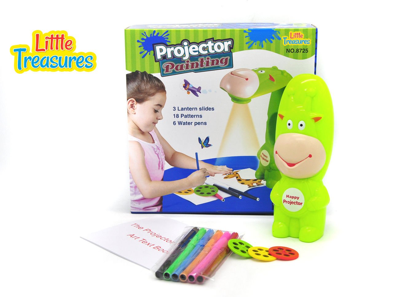 Little Treasures Projector Painting Set, Trace and Draw Little Artist Play Set