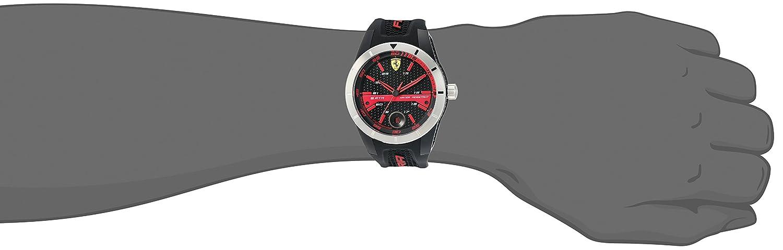 f90937342c8 Amazon.com  Ferrari 830253  RED REV T  Quartz Resin and Silicone Watch   Ferrari  Watches