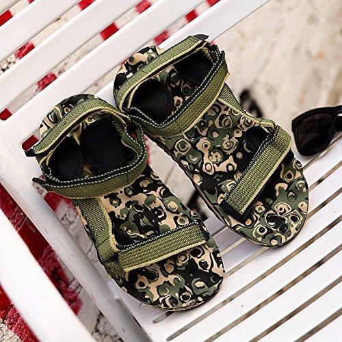 Estate la nuova Roma flip flop spiaggia coppia Sandali outdoor tempo libero Trendflip flop primavera uomini sandali, verde, US = 7, UK = 6,5, EU = 40, CN = 40