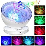 Elecstars Ocean Wave Projector, Multicolor Ocean Wave Projection LED Lamp, Night Light Projector, Music Player, Room Decor for Baby Kids and Adults, Nursery Living Room and Bedroom