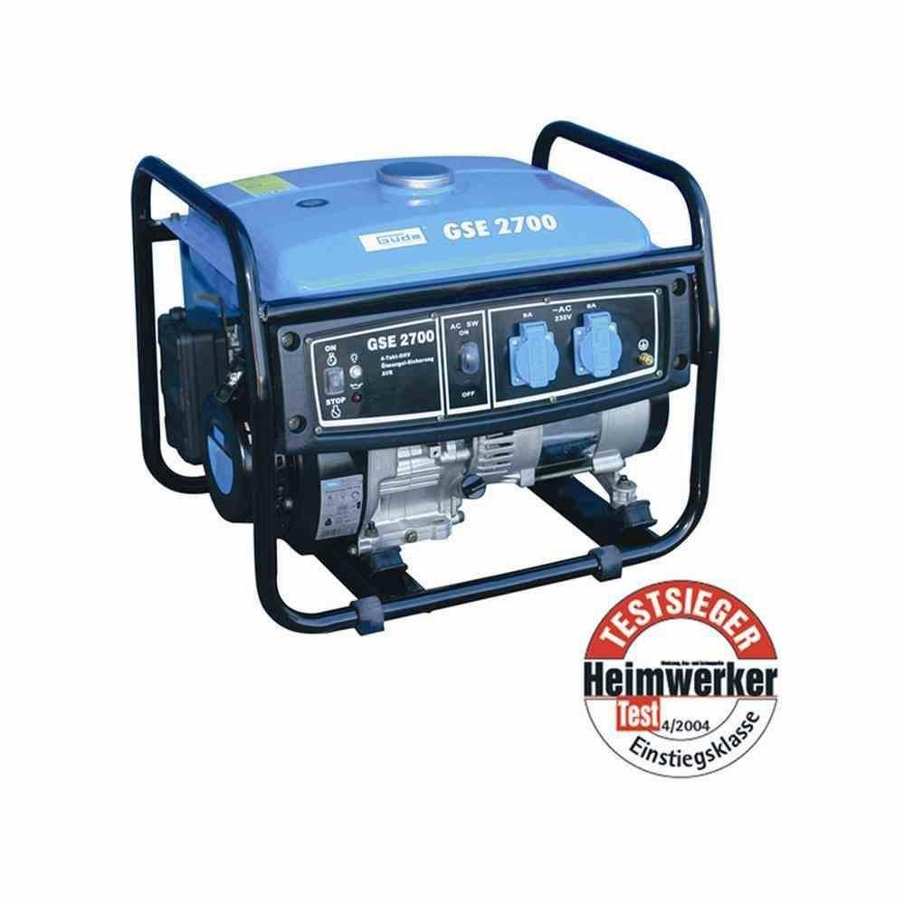 Stromerzeuger GSE 2700, 2000/2300 Watt 1-Zylinder/4-Takt-Motor 3kW (4PS)