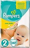 Pampers New Baby Mini, Taglia 2 (3-6 kg) - 240 Pannolini