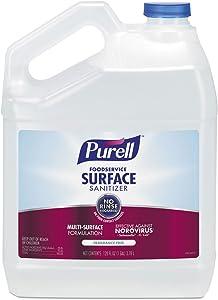 Foodservice Surface Sanitizer, Fragrance free , 1 gal Bottle