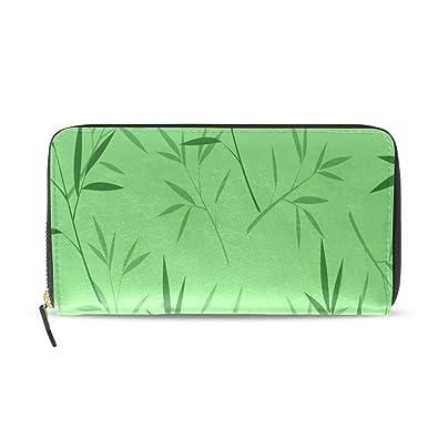 Bambú Planta de hoja verde Pasaporte largo Embrague ...