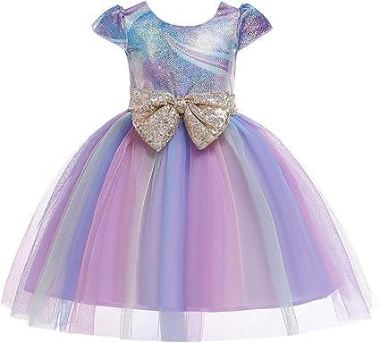Brillanto Vestido de Princesa de Arcoiris Disfraces de Carnaval ...