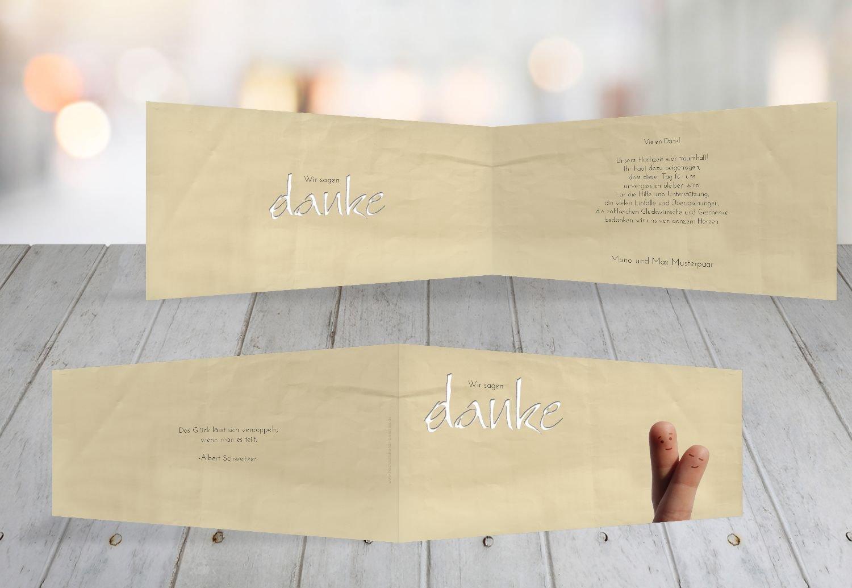 Kartenparadies Danksagung für Hochzeitsgeschenke Hochzeit Dankeskarte Fingerpaar 2, hochwertige Danksagungskarte Hochzeitsglückwünsche inklusive Umschläge   100 Karten - (Format  215x105 mm) Farbe  Hellbraun B01N6TCG8V   Lebhaft    Me