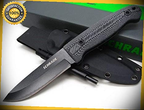 Micarta Frontier Straight Fixed Blade Sharp Knife with