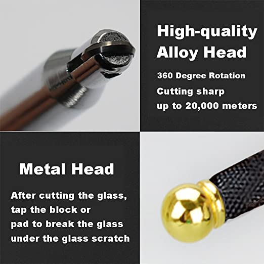 Amazon.com: Small Glass Cutter Tool,Professional Heavy Duty Oil Feed Glass Cutting Tool with Wheel for 6-20mm Thick Stained Glass Sheets/Tiles/Mosaic/Mirror ...