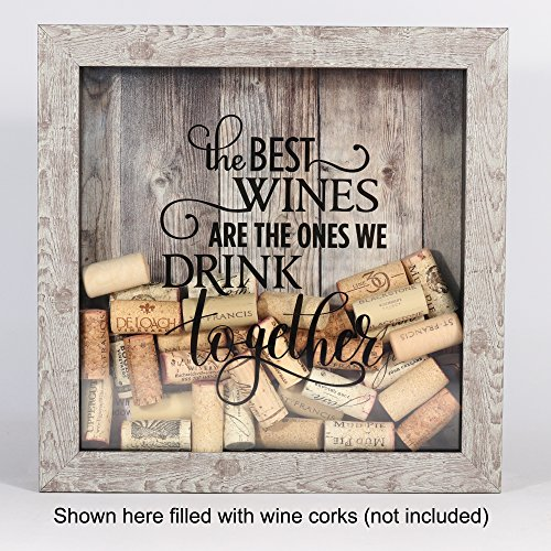 Weathered Birch Shadow Box Wine Cork Holder Crafty Wino Boutique