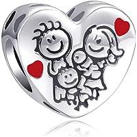 LaMenars Love Charm para pulseras Pandora 925 Silver colgante abalorios para mujeres collares regalo para el cumpleaños…
