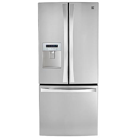 Kenmore Elite 71323 21.8 Cu. Ft. Wide French Door Bottom Freezer  Refrigerator With Dispenser