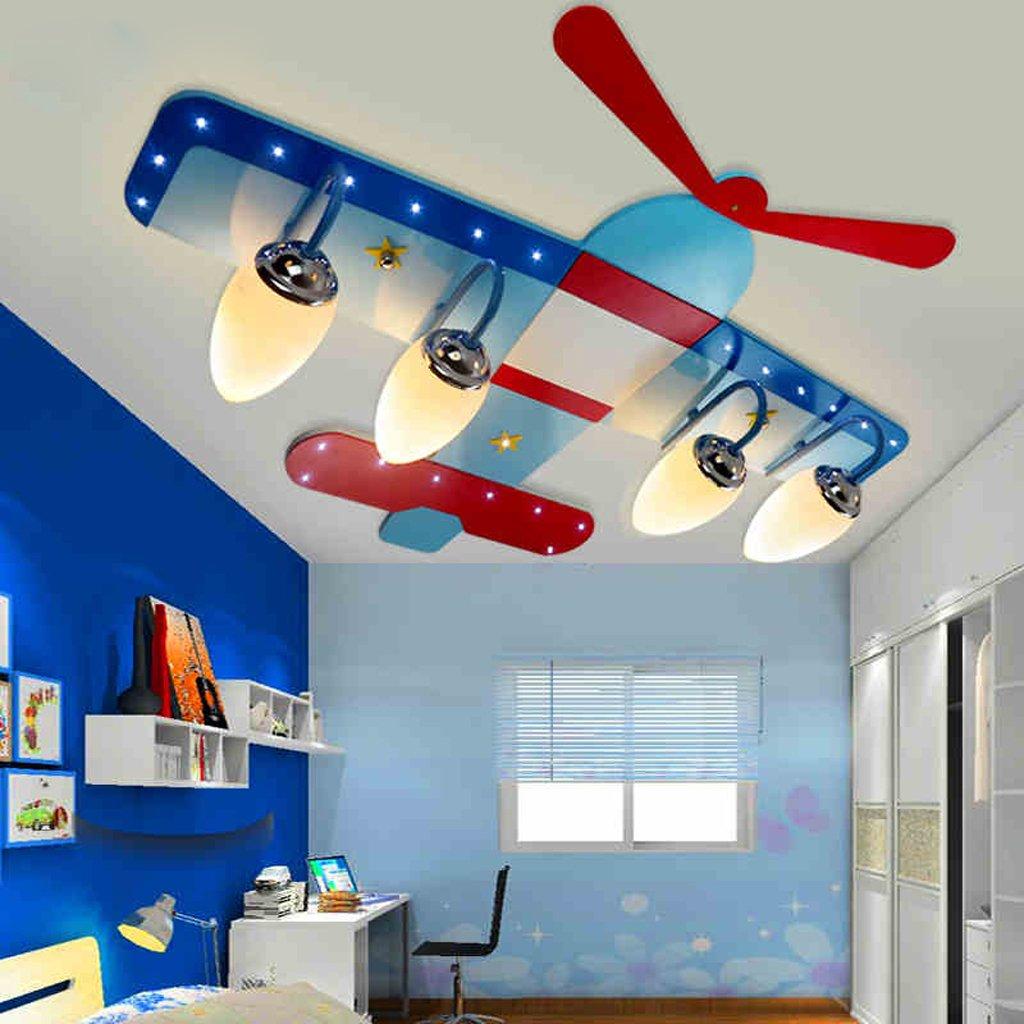 Kinderzimmer Junge Raumdeckenleuchte LED-kreative Karikatur Flugzeug Auge Mä dchen Schlafzimmerlampe Beleuchtung Lampen frelt Lampes