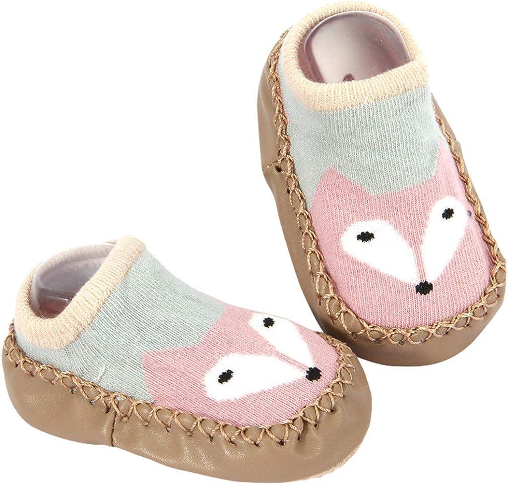 LONGROA 2Pair Baby rutschfeste H/üttenschuhe dicke baumwoll Cartoon Socken Baby-Schritt-Schuh-Socke Stopppersocken W/ärme Pl/üsch socken