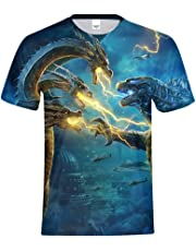 A&C Hero Godzilla Shirt,Godzilla King of The Monsters Tshirt,Godzilla 3D Printed Tshirt Cospaly for Men Women Boys Girls
