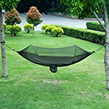 isYoung Hammock with Mosquito Net Parachute Fabric Hammock...