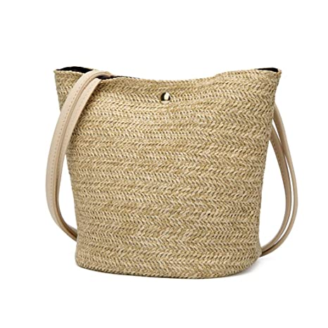 good selling authentic quality good looking Buy Fanspack Beach Bag Shoulder Bag Fashion Straw Woven ...