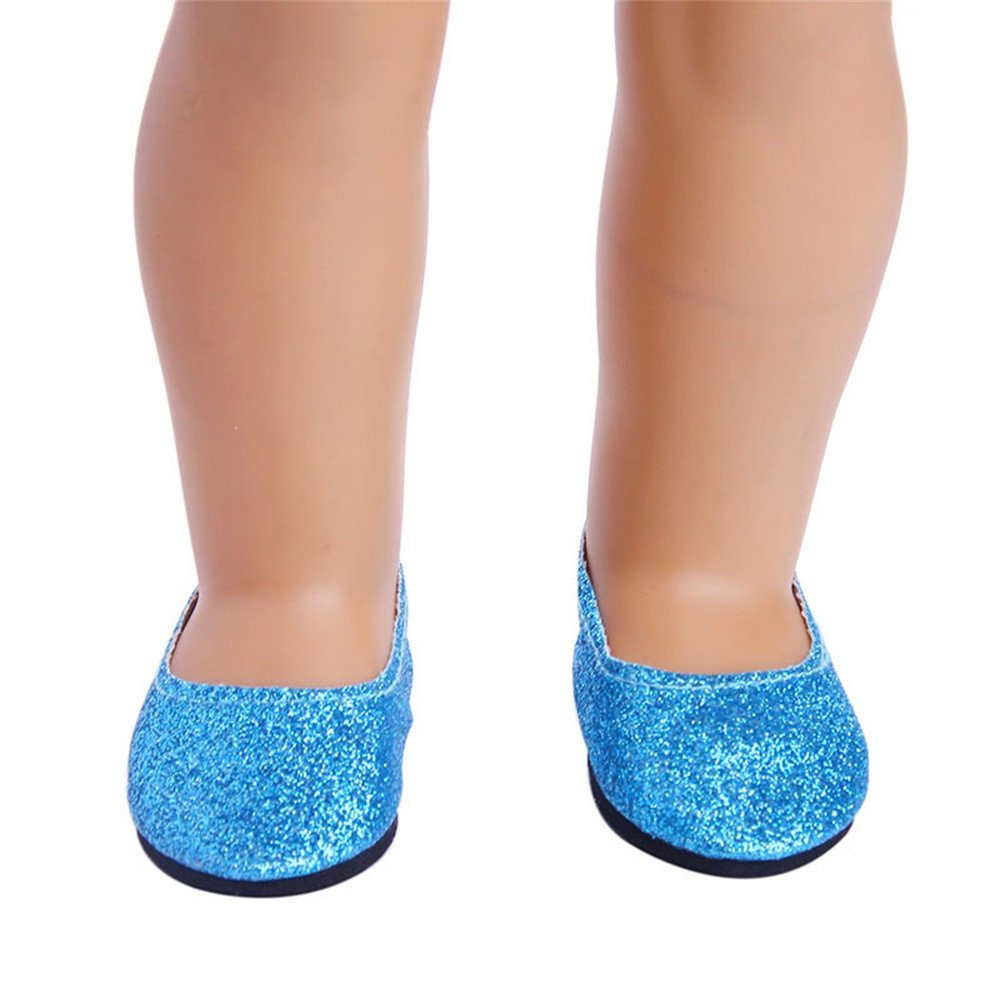 A YUYOUG Doll Shoes Stylish Flash Powder Shoes Dress Shoe For 18 inch Our Generation American Girl Doll