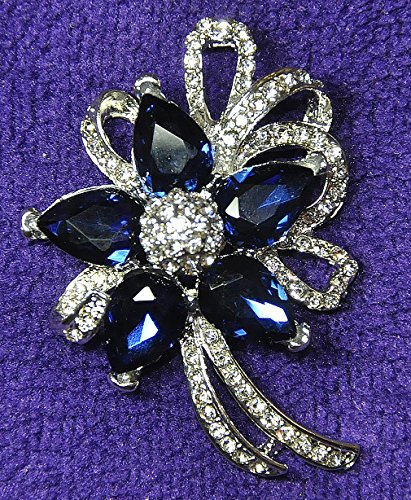 Jewelei Fashion Crystal 925 Sterling Silver Brooches Pins Scarf Clips for Wedding/Dailywear/Banquet by Jewelei (Image #3)