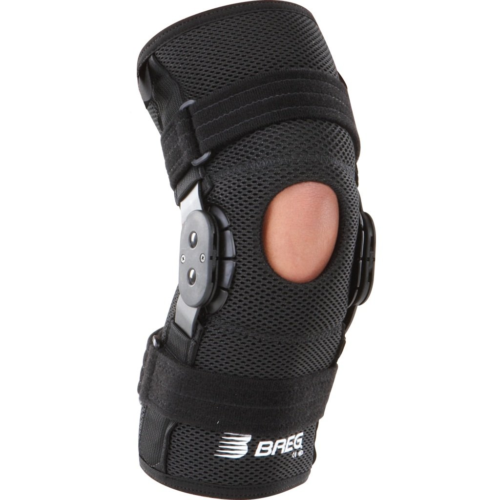 Breg Shortrunner Airmesh Wraparound Hinged Knee Brace (Large)