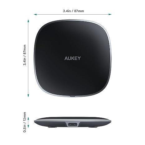 AUKEY Cargador inalámbrico con USB C Cable almohadilla de carga inalámbrica para iPhone XS XS Max/XR/X/8 Plus, Samsung S9/S9+/S8/S8+/Note9/ y otros ...