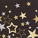 Ideal Home Range Lunch Napkins, Sparkling Stars Black