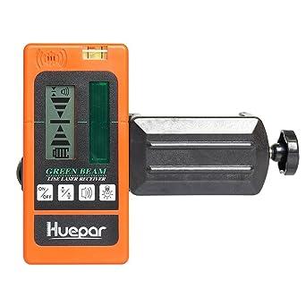 Detector láser Receptor láser de haz verde digital Huepar LR510 Utilizado con láseres pulsantes Lásere de ...