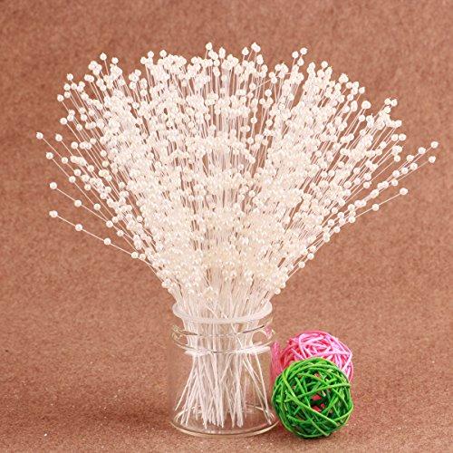 CJSIR Pearl Spray 100stems 4mm Beads Wedding Bouquet Centerpiece Decoration Crafting DIY Accessory