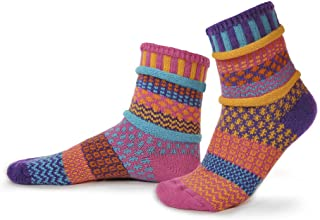 product image for Solmate Socks - Mismatched Crew Socks; Made in USA; Carnation Large