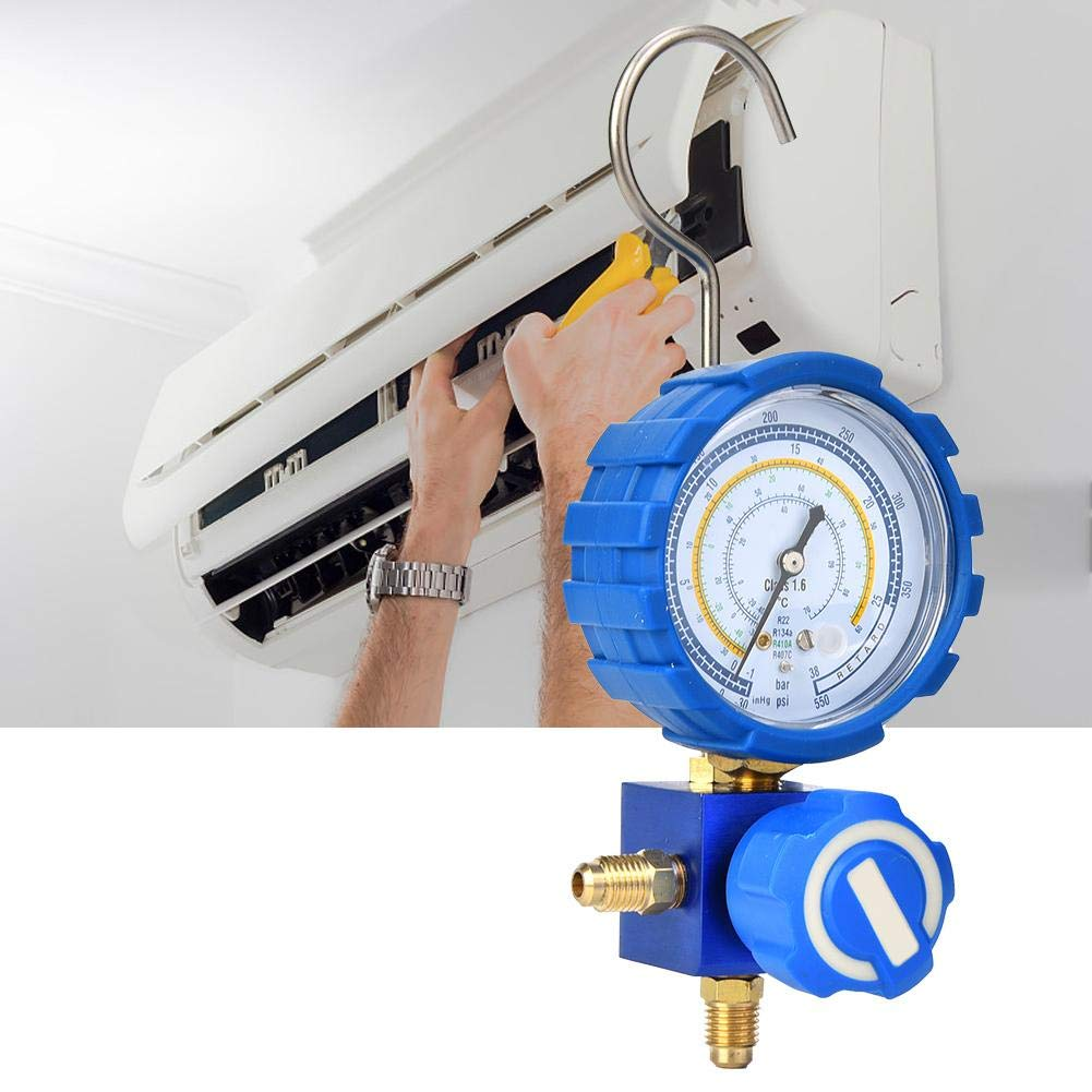 G1//4-30~550psi Air Condition Manifold Gauge R134A R407C R410A Low Pressure A//C Refrigeration Tool for R22