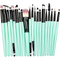 STELLAIRE CHERN Essential Makeup Brush Set 20 PCS Professional Make up Brush Set Synthetic Foundation Blending Concealer Powder Cream Cosmetics Makeup Brushes Kit - Green