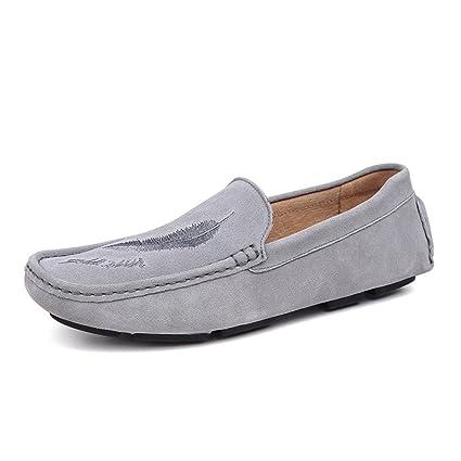 Xiazhi-shoes, Mocasines de conducción para Hombres, Estilo de Lijado de Cuero Informal