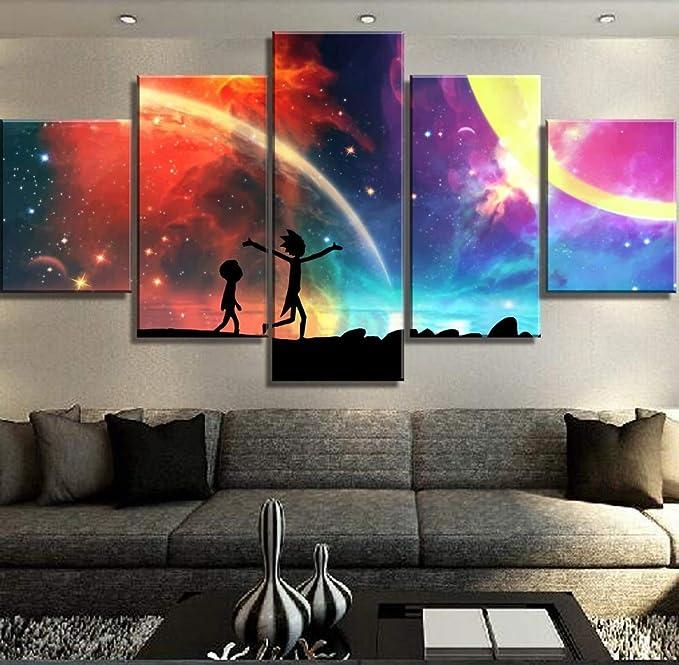 mmwin 5 Piezas Lienzo Cuadros Paisaje Lienzo Pared Arte decoración del hogar para Sala Pared Imagen: Amazon.es: Hogar