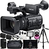 Sony HXR-NX100 HD NXCAM Camcorder with Atomos Ninja Flame 7'' 4K HDMI Recording Monitor 13PC Accessory Kit. Includes 2 Replacement F970 Batteries + AC/DC Rapid Home & Travel Charger + MORE