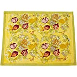 Couleur Nature Tutti Frutti Placemats, Yellow/Green, Set of 6