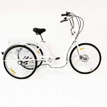 SENDERPICK - Tríciclo de Bicicleta para Adultos de 6 velocidades con 3 Ruedas, 26 Pulgadas