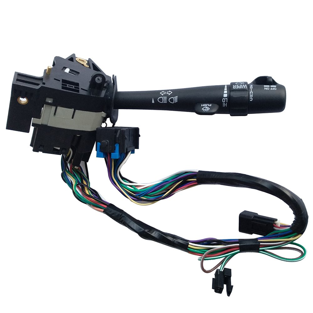 AUTOMUTO Fits for 1999-2000 Cadillac 1995-2000 Chevrolet 1995-2001 GMC Turn Signal Switch Multi-Function Combination Switch Factory Replace OE 26100986 26047331