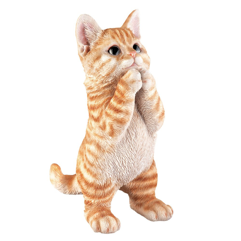 Collections Etc Cute Pet Praying Figurine Statue, Tabby Cat by Collections Etc