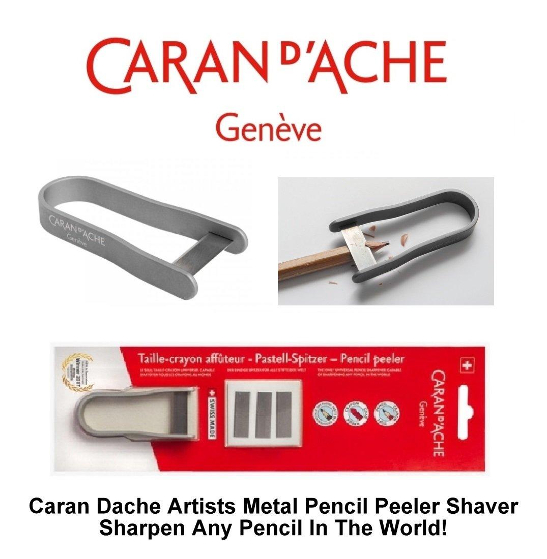 Caran dAche Artiste /Épluche-crayon d/'artiste et 3/lames de rechange argent/ées
