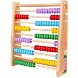Classic Wooden Educational Counting Toy With 100 Beads For Kids Boys Girls,Kids Activity Garden Kitchen Playset for Early Childhood Preschool Training Counting Number Frame Math Abacus Montesorri Tool
