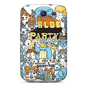 Bumper Hard Phone Cover For Samsung Galaxy S3 (hGa8009hida) Allow Personal Design Trendy Bloc Party Band Pattern