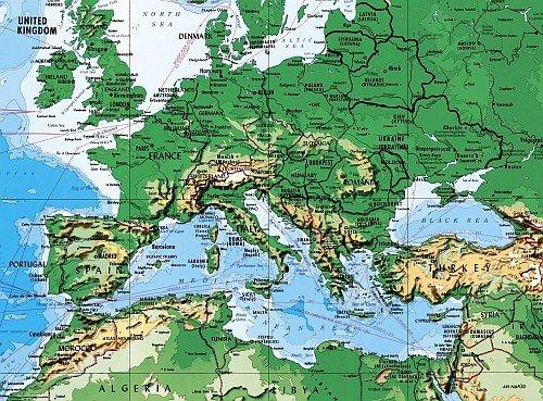 Environmental Graphics Giant World Map Wall Mural - Dry Erase Surface by Environmental Graphics (Image #1)
