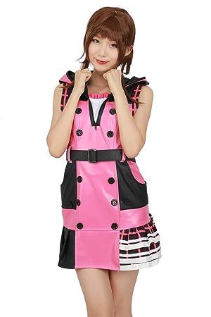 Xcostume キングダム ハーツ 3 カイリの衣装 ピンク コスプレ ドレス ポリエステル オリジナルデザイン 着心地が