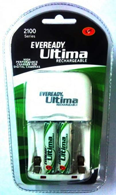 TPS, Eveready Ultima Charger+2 AA 2100mAmp Rechargeable Cell General Purpose Batteries   Battery Chargers