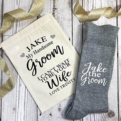 Can't Gift Grey And I Wedding Morning To Socks Be Wait Bag Personalised Groom Wife Your Light UqvdwBxv