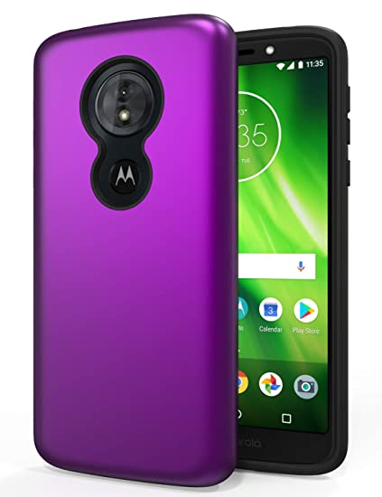 wholesale dealer 8ade4 31885 Moto G6 Play Case,SENON Slim-fit Shockproof Anti-Scratch Anti-Fingerprint  Protective Case Cover for Motorola Moto G6 Play, Purple