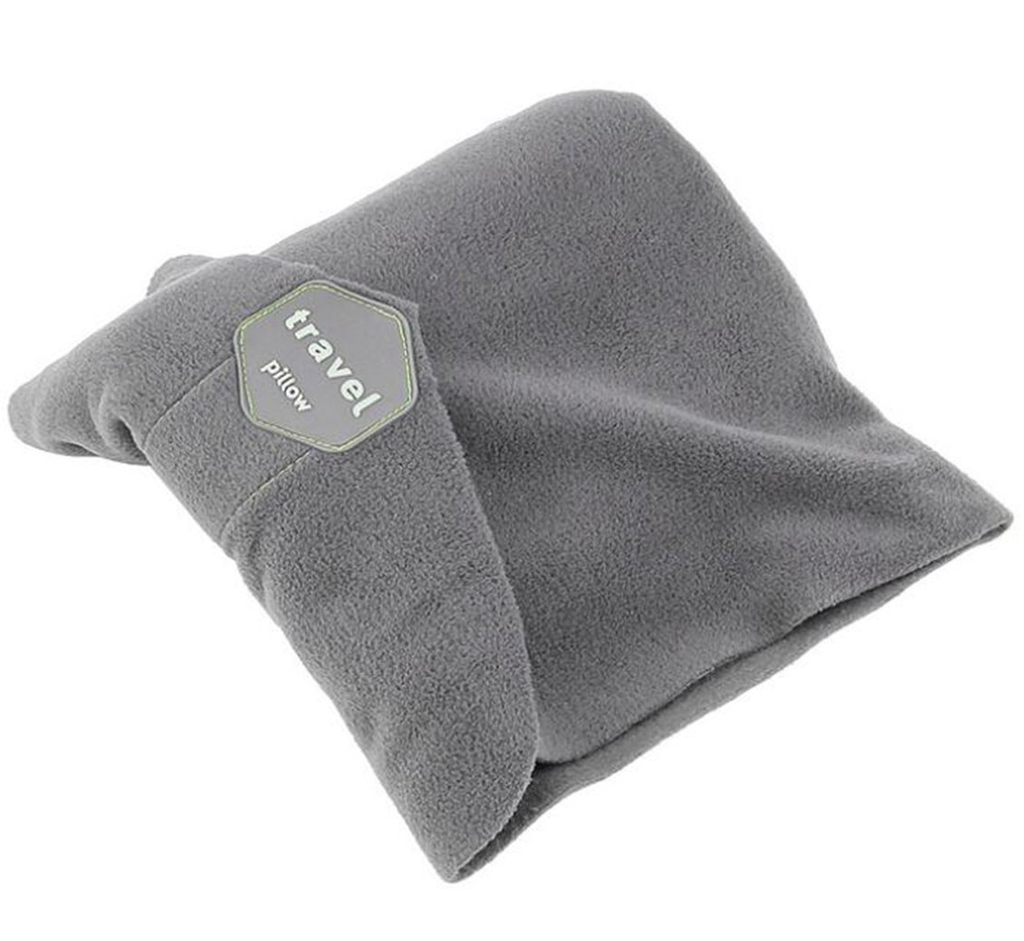 JINTOP Travel Pillow Machine Washable Scientifically Proven Super Soft Comfortable for Neck Head Support Airplane Pillows Memory Foam Portable Travel Pillowcase (Grey)