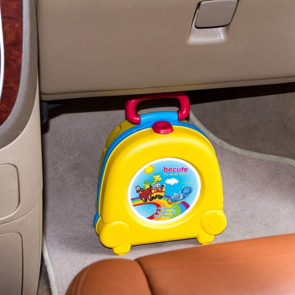 Baby Furniture Baby Nest Bed Children Small Toilet Children Portable Toilet Travel Portable Car-Mounted(red) (Color : Yellow) by LUOFUSHENG