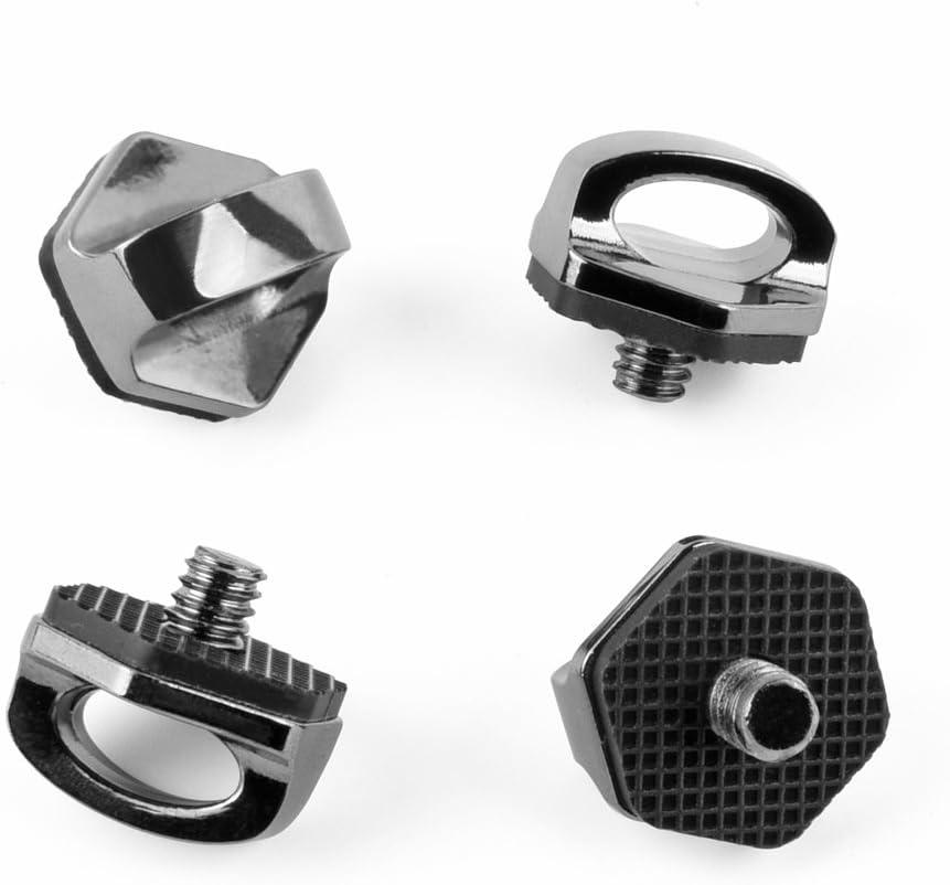 "Zecti 1/4"" Neck Strap Screw Holder, Camera Screw for Quick Release/Install Neck Strap Sling Wrist Strap Holder for Camera DSLR Canon Nikon Sony Olympus Panasonic Sigma (4 Pack)"