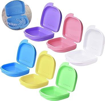 caja ferula dental caja para ortodoncia protesis caja dentadura, caja de protección para instrumentos dentales con orificios de ventilación, limpia e higiénica.6 Piezas: Amazon.es: Salud y cuidado personal